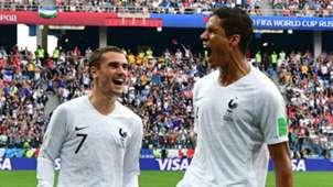 Antoine Griezmann Raphael Varane France 2018