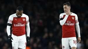 Alexandre Lacazette Mesut Ozil Arsenal 2018-19