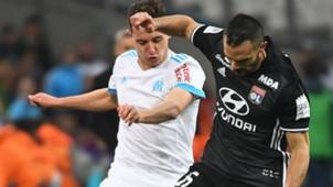 Florian Thauvin Jeremy Morel Marseille Lyon Ligue 1 18032018