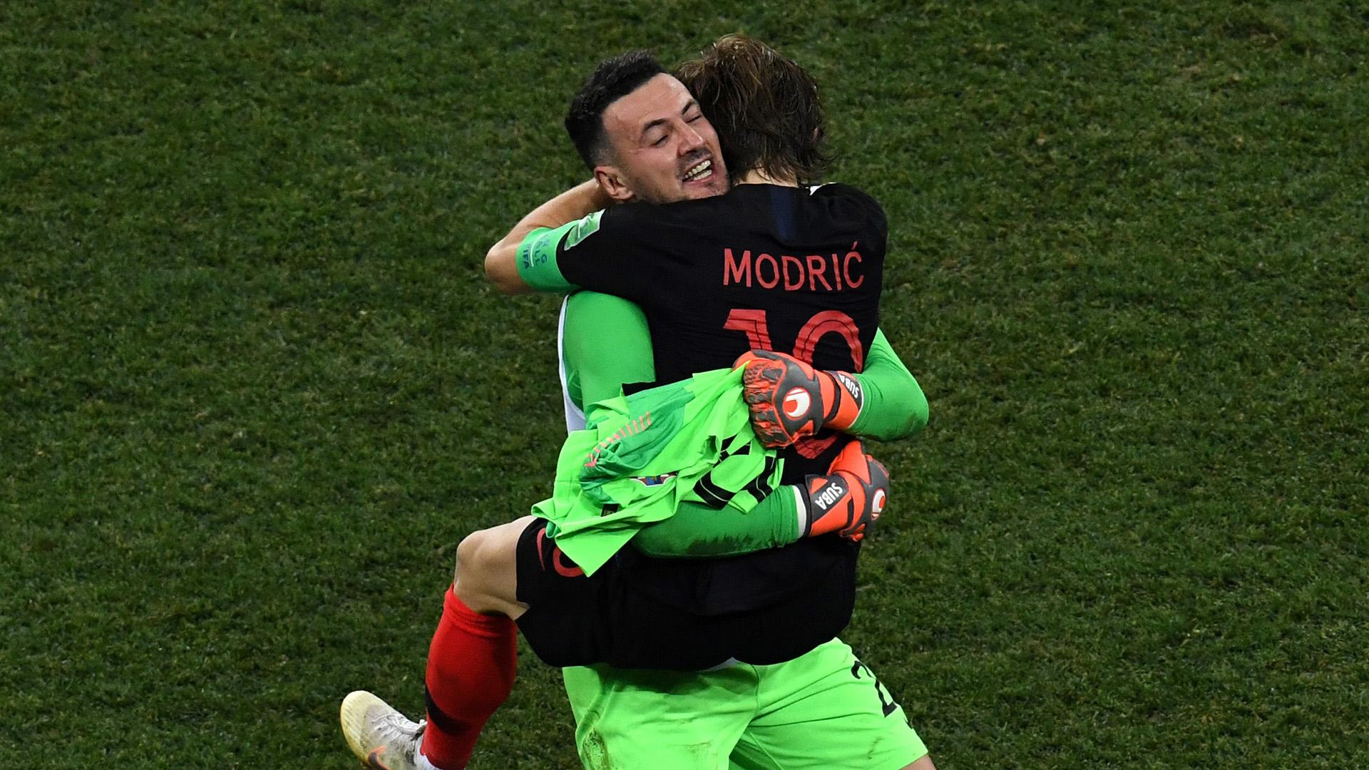 Danijel Subasic Luka Modric Croatia Denmark World Cup 01072018