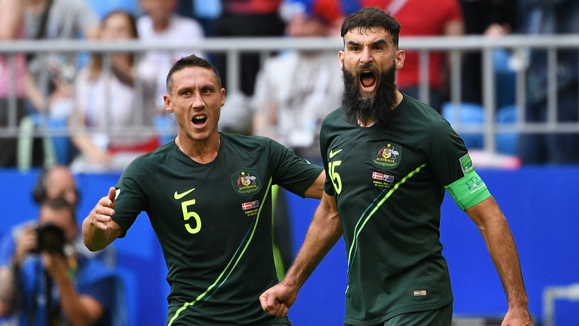 Socceroos Mile Jedinak Mark Milligan