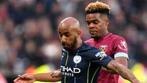Fabian Delph Grady Diangana Manchester City West Ham