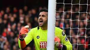 Adam Federici Arsenal v Bournemouth Premier League 27112016