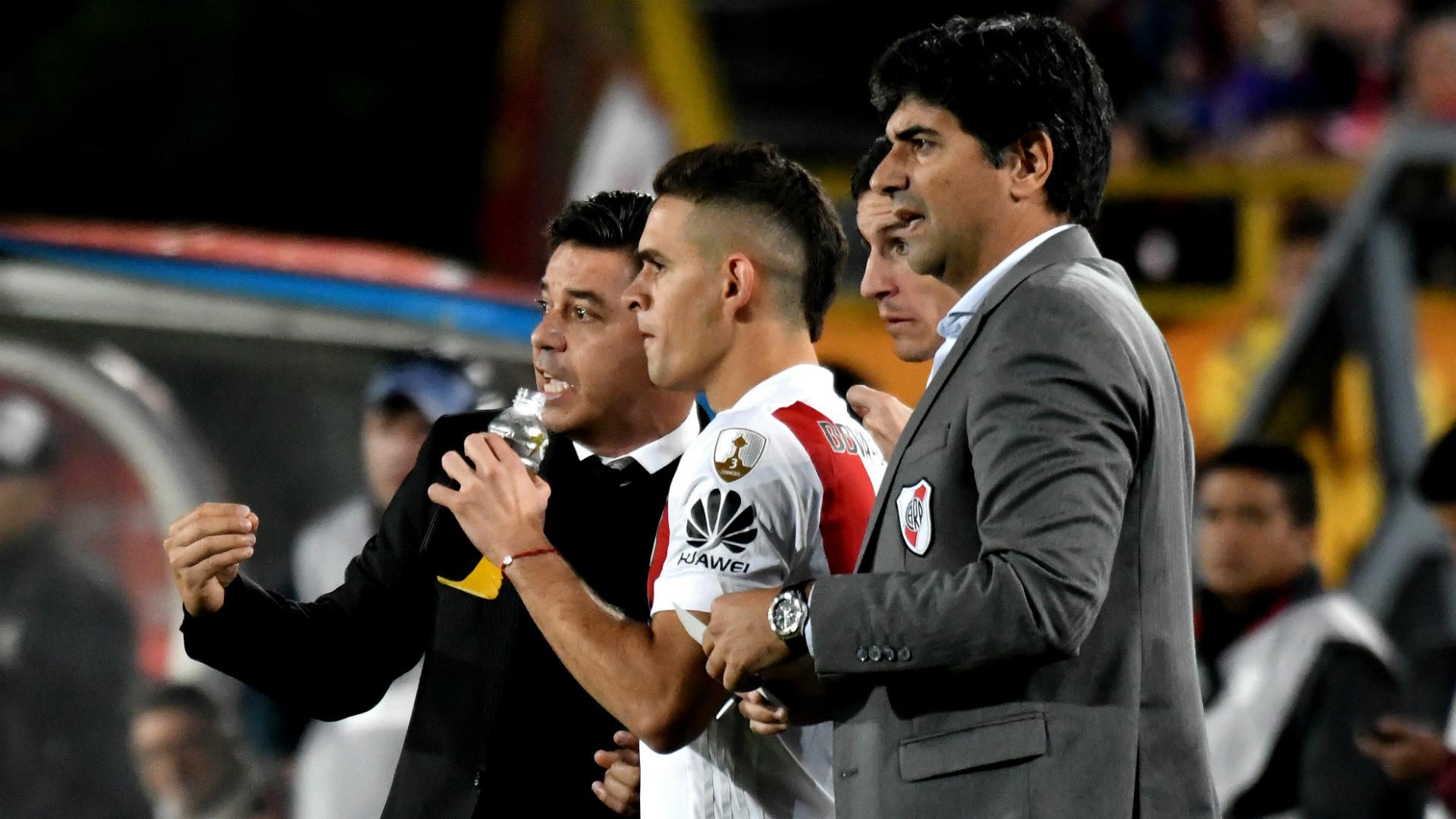 Matias Biscay Marcelo Gallardo River Copa Libertadores 03052018