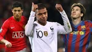 GFX Cristiano Ronaldo Mbappe Messi