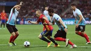 Andres Iniesta Spain Turkey Euro 2016