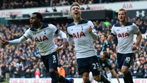 Danny Rose Christian Eriksen Harry Kane Tottenham v West Brom Premier League 14012017