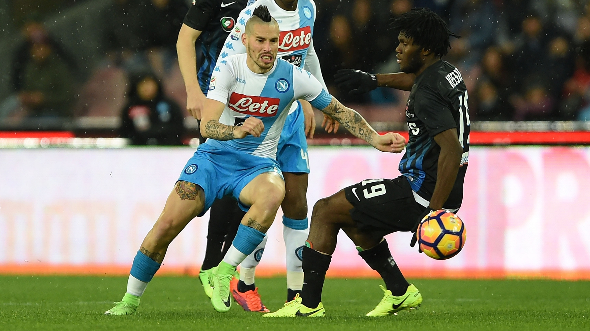 Marek Hamsik Franck Kessié Napoli Atalanta