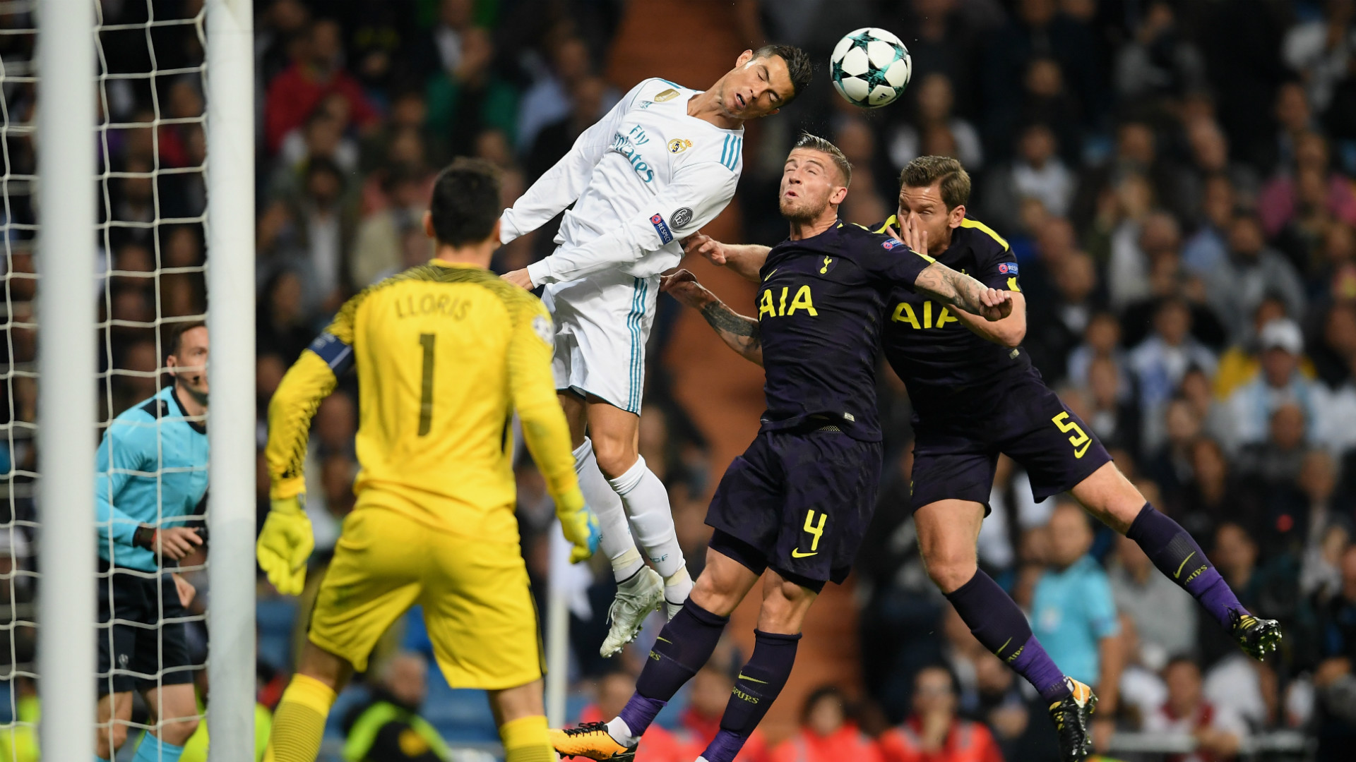 CRISTIANO RONALDO REAL MADRID TOTTENHAM CHAMPIONS LEAGUE