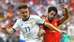 Aleksandr Golovin Russia Isco Spain World Cup 2018