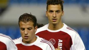 Rafael van der Vaart Zlatan Ibrahimovic Ajax