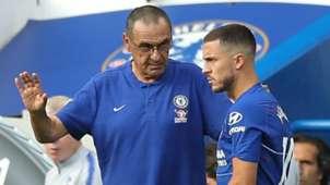 Maurizio Sarri Eden Hazard Chelsea 2018-19