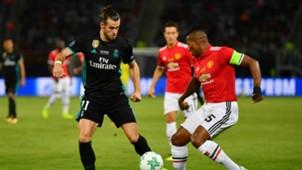 Gareth Bale Antonio Valencia Real Madrid Manchester United UEFA Supercup
