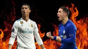 Cristiano Ronaldo, Eden Hazard, Sacred Fire