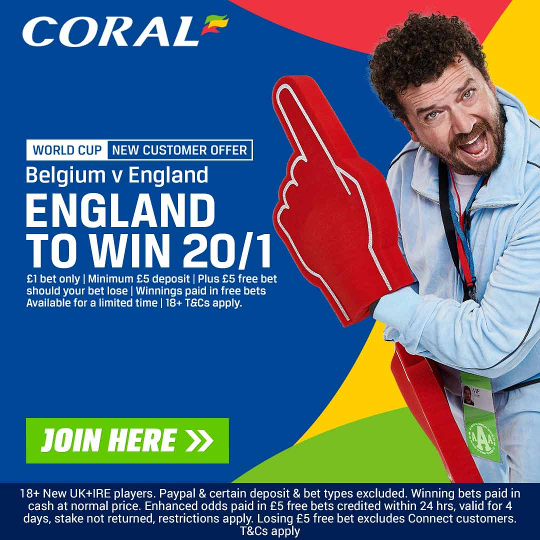 England Coral offer vs Belguim