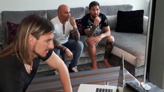 Sampaoli Messi Beccacece Seleccion Argentina Barcelona 080817