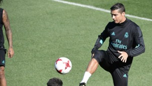 Cristiano Ronaldo Real Madrid training session