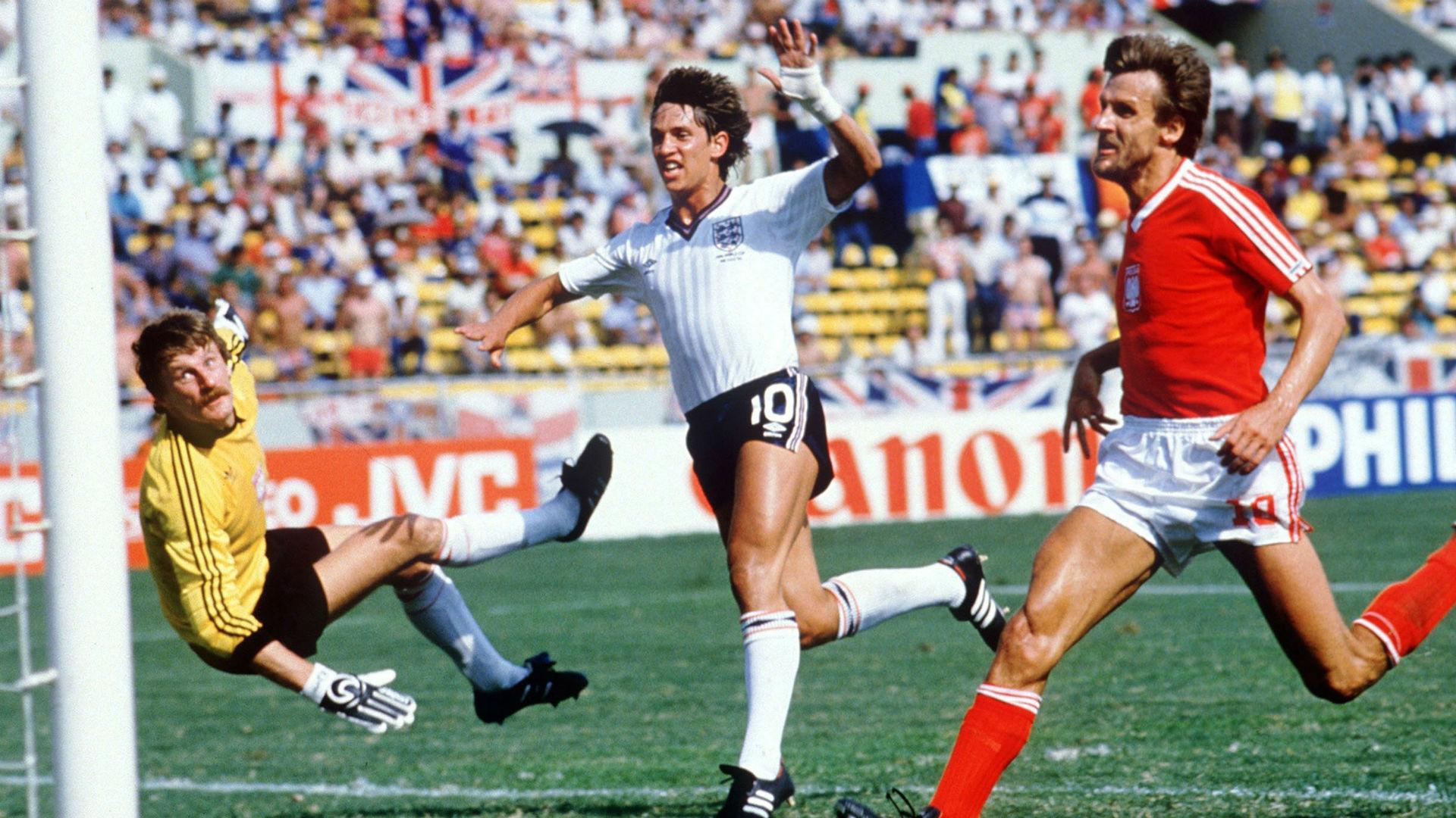 Gary Lineker England Poland 1986 World Cup