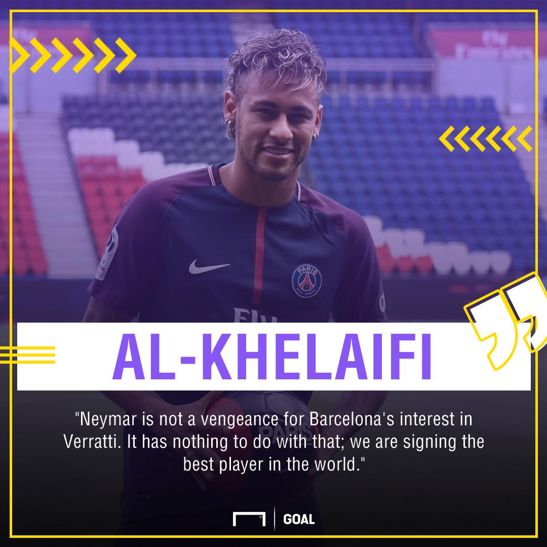 Neymar Marco Verratti PSG Nasser Al-Khelaifi