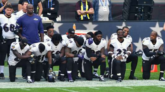 Baltimore Ravens protest