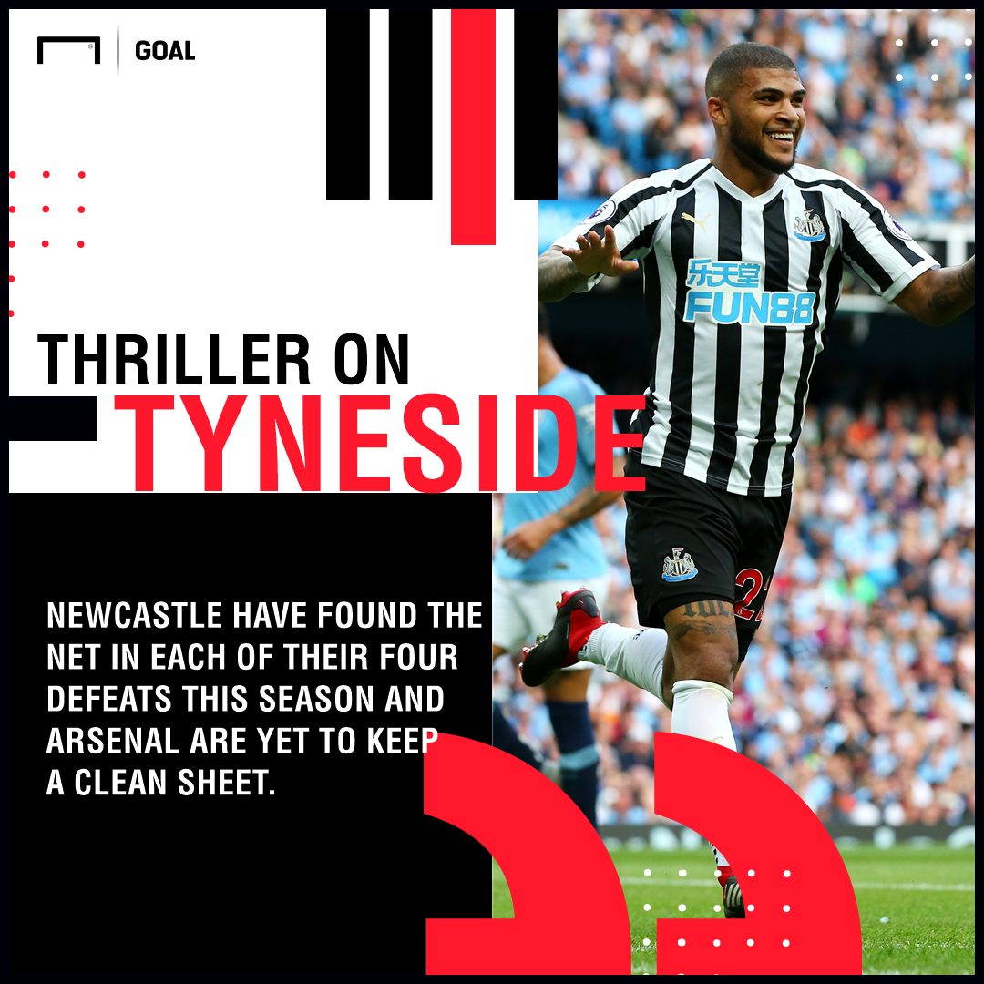 Newcastle Arsenal graphic