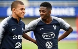Kylian Mbappe Ousmane Dembele France