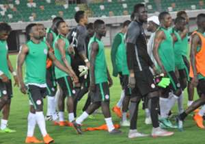 The Super Eagles look very fit and set to take on the Europa League kings in Tuesday's hybrid friendly at the Godswill Akpabio international Stadium