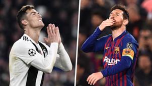 Messi Ronaldo split