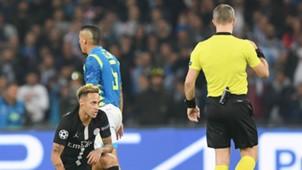 Neymar PSG Napoli Referee