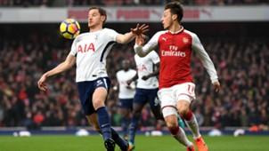 Arsenal Tottenham Vertonghen Özil Premier League 181117