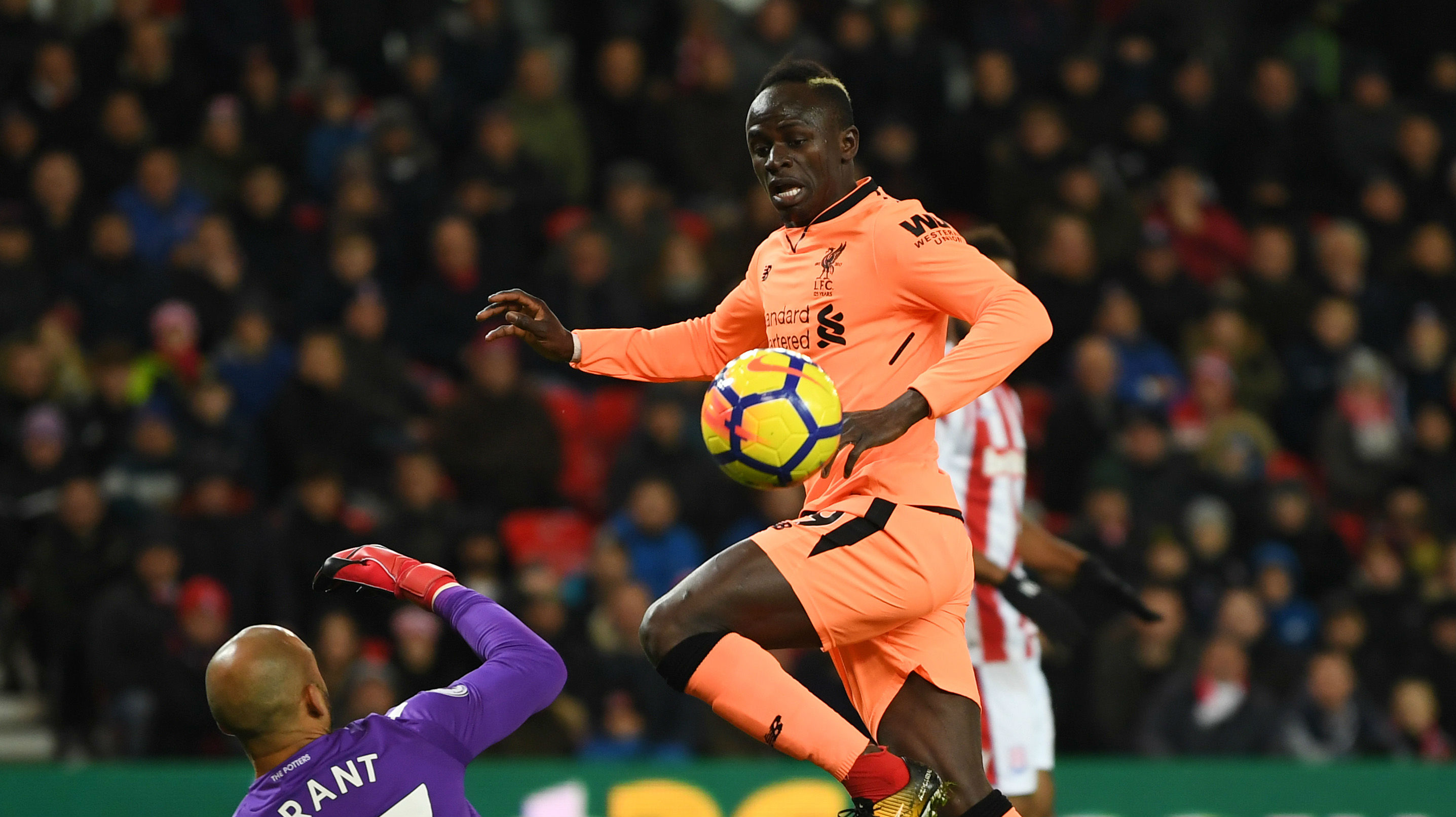 Sadio Mane Liverpool Stoke City