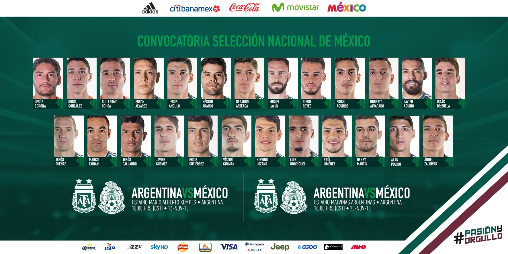 Convocatoria México noviembre