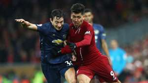 Matteo Darmian Roberto Firmino Liverpool Man Utd 16122018