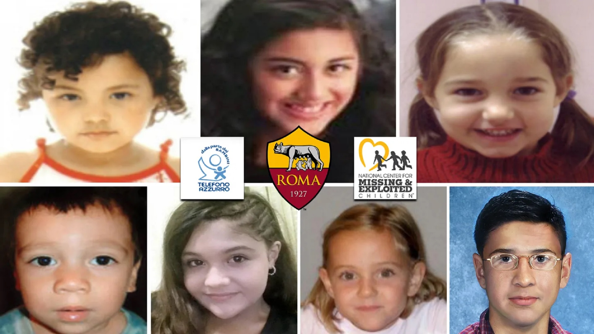 Roma's social transfer campaign to help search for missing children