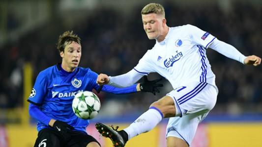 Tomas Pina Andreas Cornelius Club Brugge Copenhagen UEFA Champions League 12072016