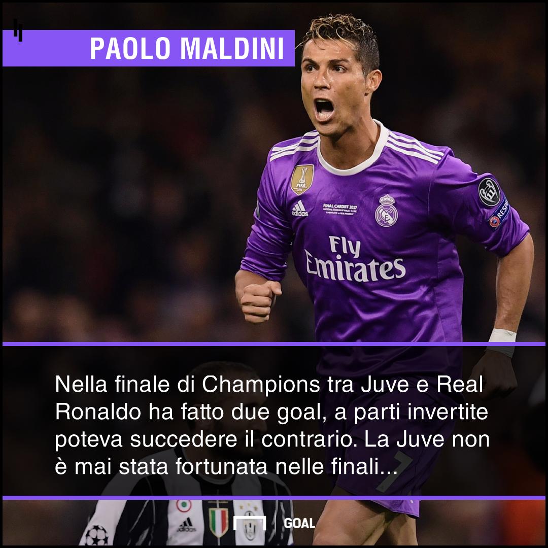 Maldini su CR7 Juventus