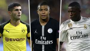GFX split Pulisic Mbappe Vinicius Jr Golden Boy 2018