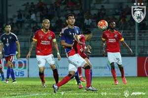 Hadi Fayyadh (no 36) playing for Johor Darul Ta'zim II in 2016