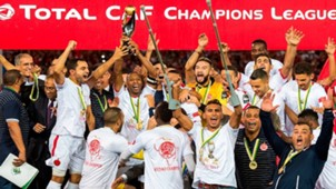 Wydad Casablanca players celebrate winning the CAF Champions League final