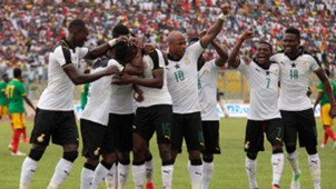 Andre Ayew, Daniel Amartey & Ghana celebrate