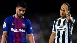 Luis Suarez Paulo Dybala Barcelona Juventus