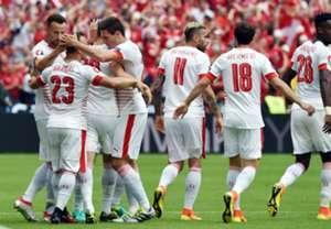 HP Fabian Schar Xherdan Shaqiri Albania Switzerland Euro 2016