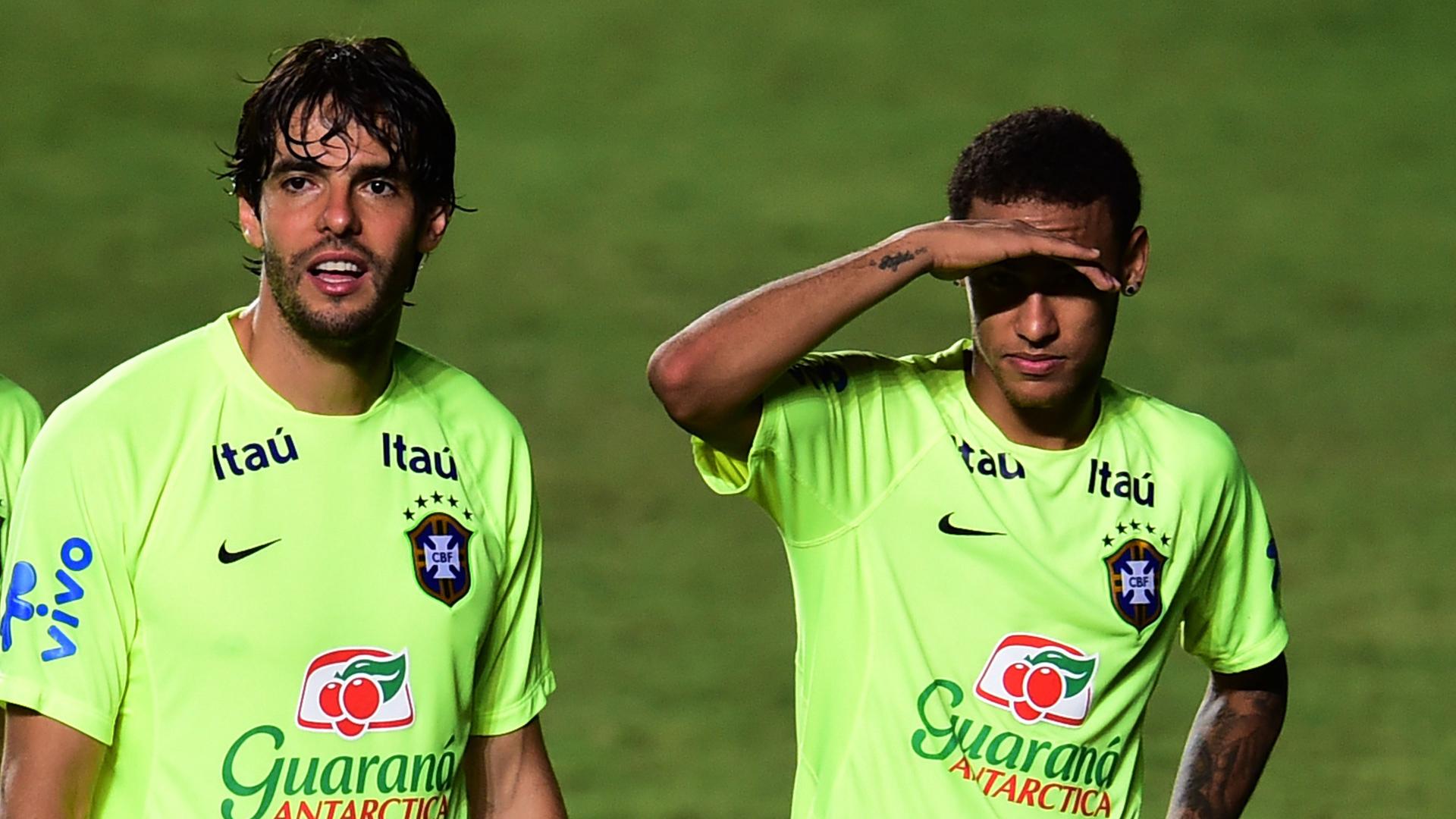 Kaka Neymar Brazil Brasilien November 2015