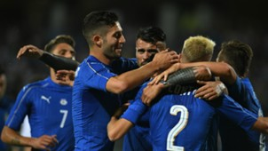 Italy players celebrating vs San Marino Friendly 31052017