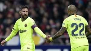 241118 Barcelona Atlético de Madrid Lionel Messi Arturo Vidal