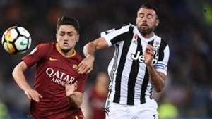 Cengiz Under Andrea Barzagli Roma Juventus Serie A 05132018
