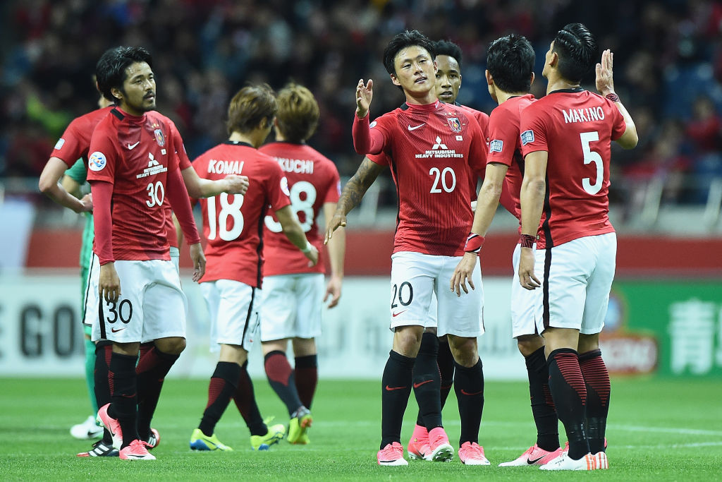Urawa Red Diamonds celebrate