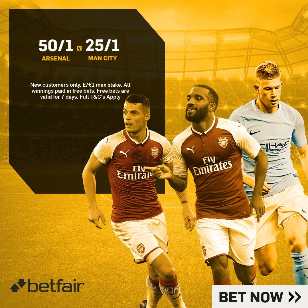 Betfair enhanced odds Arsenal v Manchester City