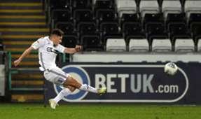 Daniel James Swansea Stoke City goal