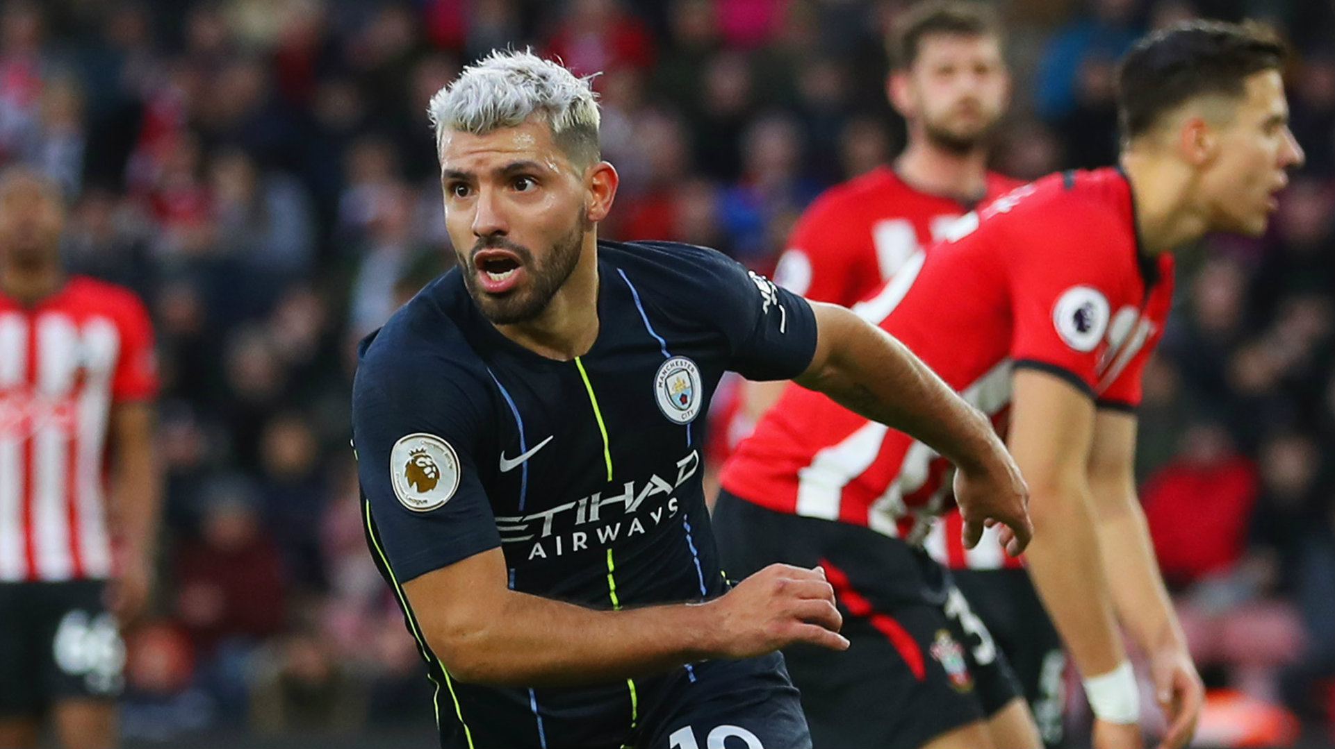 Sergio Aguero Southampton vs Manchester City Premier League 2018-19